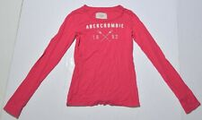 Woman's ABERCROMBIE & FITCH Pink T-Shirt Long Sleeve Junior Size Small S