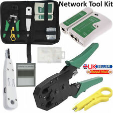 RJ45 Ethernet Network Tester Cable Crimping Crimper Punch Down Impact Tool Kit