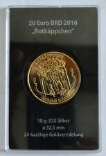 """20 Euro Gedenkmünze """"Rotkäppchen"""" Sterling Silber (925/1000) 24K"""