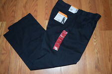 NWT Mens SAVANE Caviar Black Stretch Performance No Iron Pants Slacks W 38 L 30