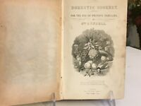 English Victorian Book Domestic Cookery For The Use of Private Families