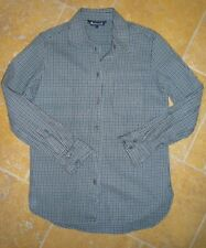 AQUASCUTUM SHIRT/BLOUSE, SIZE LARGE, COTTON MIX, CLASSIC CHECK, FITTED STYLING