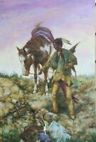 Oil painting on Canvas Hand Painted 24 x 36 Stretched - Purple Sky