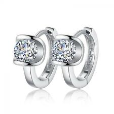 1 Pair Women Girls Silver Plated Jewelry Crystal Ear Stud Earrings Gifts