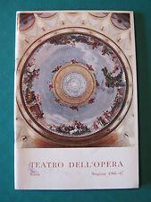 """TEATRO DELL'OPERA ROMA STAGIONE 1966-67 """"SIEGFRIED"""" DI RICHARD WAGNER"""