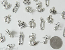 10pc BABY THEME Grab Bag Mixed Charm LoT - BABY SHOWER GIFTS CARDS