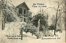 West Pine Street After the Ice Storm, Feb 1909, Gloversville Ny
