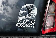 """Nico Rosberg-F1 Finestra Auto Adesivo-design del casco"""" """"Mercedes Segno di formula 1"""