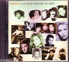Arista 15 Year History of Hits CD Classic 60s 70s Rock Pop Whitney Houston Rare