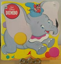 1981 Walt Disney's A Golden Shape Book Dumbo 9th printing nice condition vintage