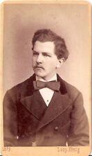 Leopold König CDV Foto Herrenportrait - Wels 1875