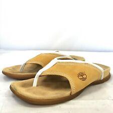 TIMBERLAND Brown Leather Slip-On Sandals Summer Versatile Size UK7 US9 173044