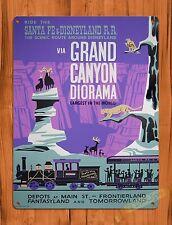 TIN SIGN Disney's Grand Canyon Diorama Train Railroad Ride Poster