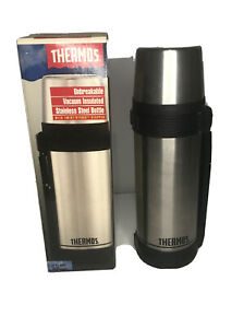 Vintage Stainless Steel Thermos Vacuum Insulated Bottle With Twist'N'Pour Top