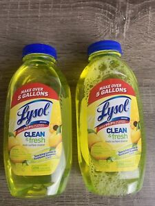 2 PK Lysol Clean and Fresh Multi Surface Cleaner 10.75 oz Makes Over 5 Gallons