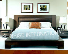 Contemporary Wooden Queen Size Double Bed with 2 matching bed side cabinet !