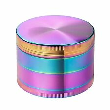 Colourful Tobacco Grinder Herb/Spice/Weed Alloy Smoke 2.2 inch 4 Piece Crusher