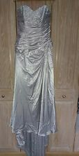 Maggie Sottero wedding dress 16 silver satin lace up bodice strapless BNWOT