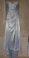 Maggie Sottero Kadence wedding dress 16 silver satin lace up strapless BNWOT