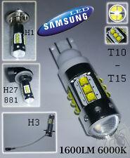 LAMPADA T10/T15/H1/H3/H27 881 Con 16 LED CREE 80W 6000K 1600LM SAMSUNG CANBUS