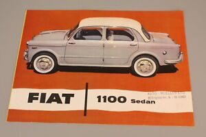 FIAT 1100 Sedan - Prospekt in Englisch /  Program in English (1024)
