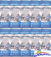 (10) 2013 Topps Prime Football EXCLUSIVE Sealed Jumbo Value Pack-AQUA PARALLELS