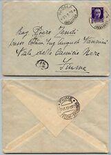 REGNO-IMPERIALE 50c(251) su busta PADOLA->Fiume 29.8.1939