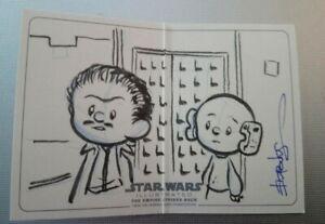 Topps Star Wars artist sketch card panel booklet Lando Calrissian