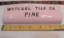 1 pc. Vintage *Pink* Glossy Ceramic Tile Radius Bullnose by Wenzcel Co. NOS