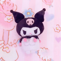 Cute Kuromi Plush Doll Pendant Key Chain Keychain Car Keyring Toy Collection