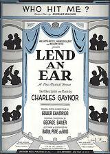 "Carol Channing ""LEND AN EAR"" Charles Gaynor / Gower Champion 1948 Sheet Music"