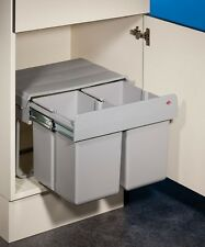 Wesco Double Shorty 1 Abfallsystem Drehtür Vollauszug / 2x 15 Liter / 50 cm
