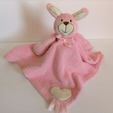 Blankets And Beyond Pink Bunny Security Blanket Heart Lovey Rabbit