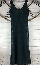 Vintage Victorias Secret Sheer Maxi Dress Lingerie Cover Up Green Star Pattern L