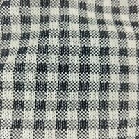 Vtg Double Knit Polyester Fabric 1.6 yd x 36 in Black White Plaid Checker