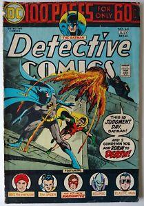 DETECTIVE COMICS #441 (1974)-- JUDGEMENT DAY - 1st App. Harvey Bullock!