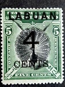 North Borneo 1898 Overprint Labuan 4 Cents On 5c - 1v MH
