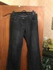 CECIL DENIM Scarlett Ladies Dark Blue Flared Bootcut Jeans Size 12/14 Long W32