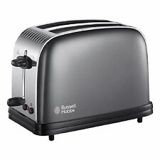 Russell Hobbs 23332 Colours Plus 2-Slice Toaster - Grey Brand New