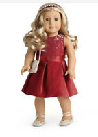American Girl TIS THE SEASON RED CHRISTMAS DRESS SET Truly Me NIB No Doll