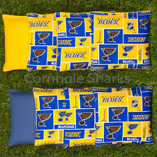 Cornhole Bean Bags Set of 8 ACA Regulation Bags St. Louis Blues Free Ship!!