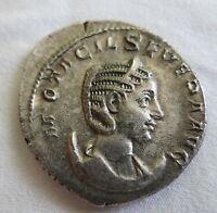 ROME Silver Antoninianus M. OTACILIA SEVERA Concordia XF