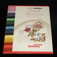 Studio Bernina Floral Illusions Embroidery Card 534 Artista by Sue Box