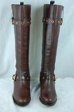 SUPER SEXY!!! KORS MICHAEL KORS   BROWN  BUCKLED LEATHER RIDING BOOTS SIZE  7