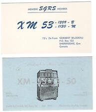 LOT OF 2 QSL CARDS FROM SHERBROOKE QUEBEC CANADA INCLUDES SHERBROOKE'S MUSIC MAN