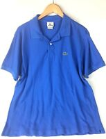 Lacoste Polo Shirt Blue Cotton Short Sleeve Golf Mens Size 6 US XL