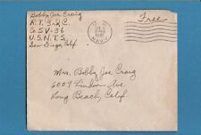 1942 US Navy Cancel San Diego, Free Postage