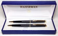 Waterman Hemisphere Black Lacquer Ball Pen/Pencil Set New In Box Product 92002-W