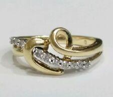Genuine Diamond 10K Gold Ladies Heart Ring Size 5.75