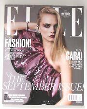 New Rare Huge ELLE USA American Edition Magazine Sep 2016 Cara Delevingne